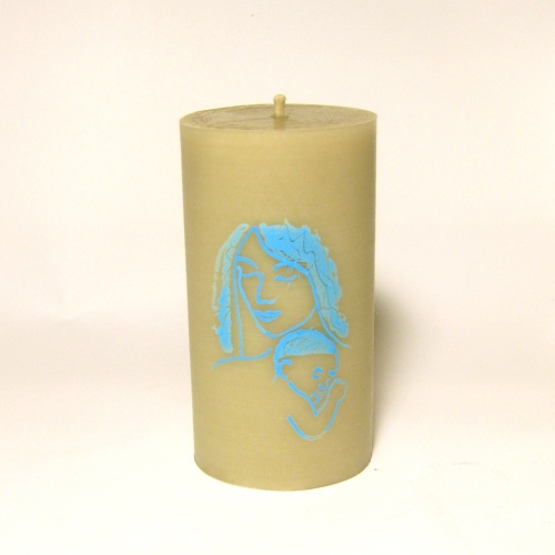 Beeswax candle for birthing or breastfeeding