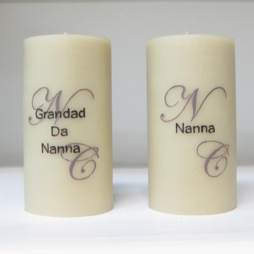 Individually painted beeswax wedding memorial candles
