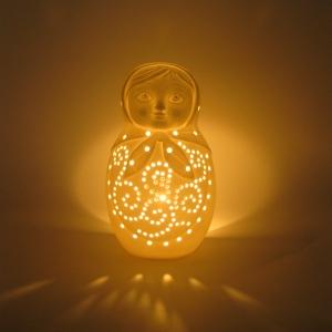 Porcelain Babushka Tealight candle holder
