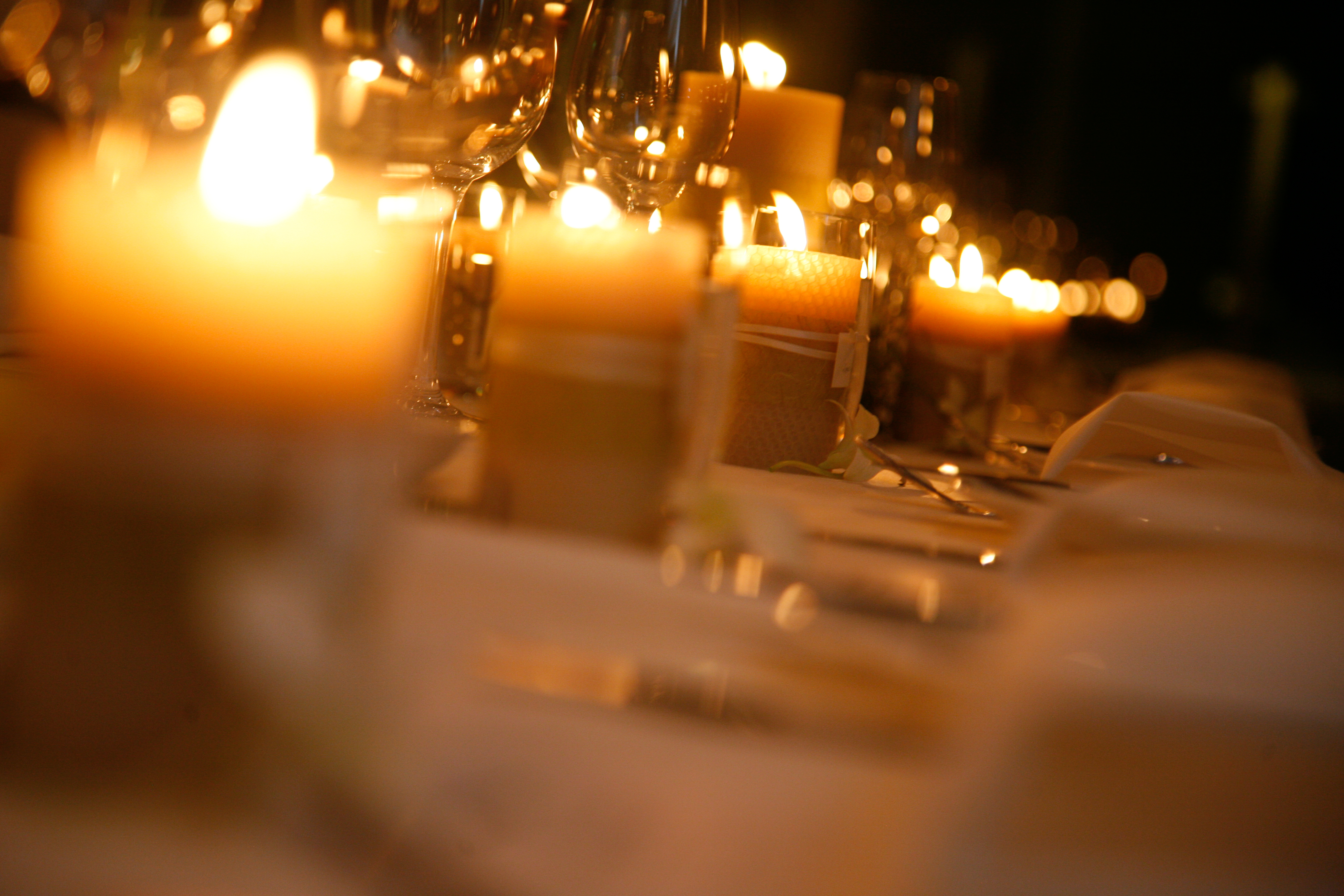 Wedding Candles: Queen B Beeswax Candles